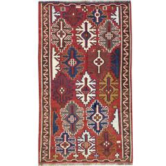 Antique Russian Kuba Kilim Flat-Weave Rug