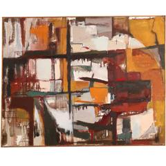 Abstract Painting by Ethel Glover, 1958, Chicago