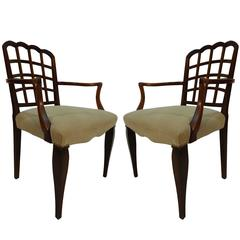 Pair of Early 20th Century Aesthetic Movement Armchairs