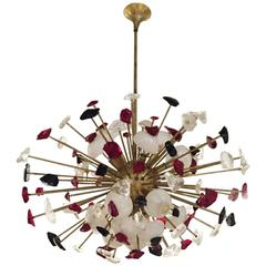Incredible Mid-Century Modern Italian Sputnik Chandelier