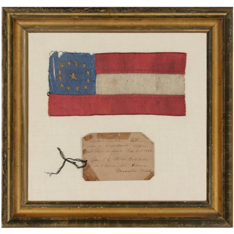 Confederate Bible Flag Captured At The Battle Of The Handkerchiefs At 1stdibs