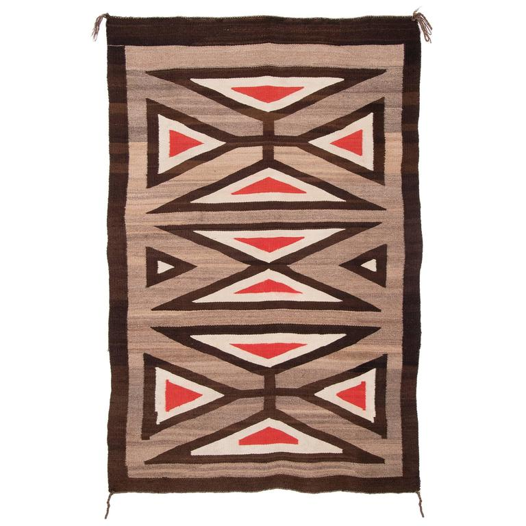 Vintage Native American Navajo Regional Rug, Early 20th Century