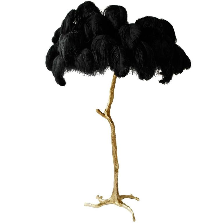 Feather palm tree floor lamp, 2015