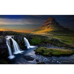Iconic Icelandic Waterfall of Mind Blowing Beauty Photograph