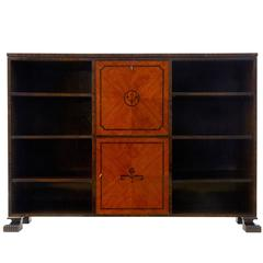 Early 20th Century Art Deco Open Bookcase Cabinet
