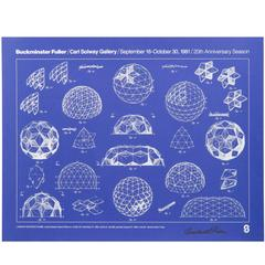 Signed Buckminster Fuller Print