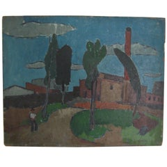 Vincent Spagna 1940s Factory Painting