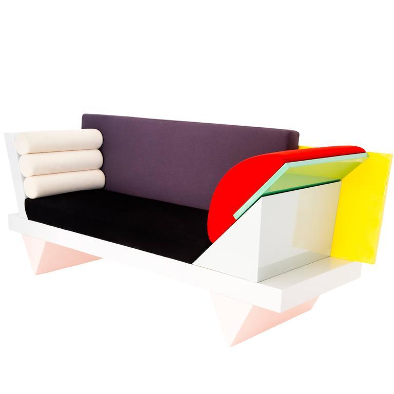 sofa big, big sur sofa by peter shire 'memphis group' at 1stdibs, Design ideen