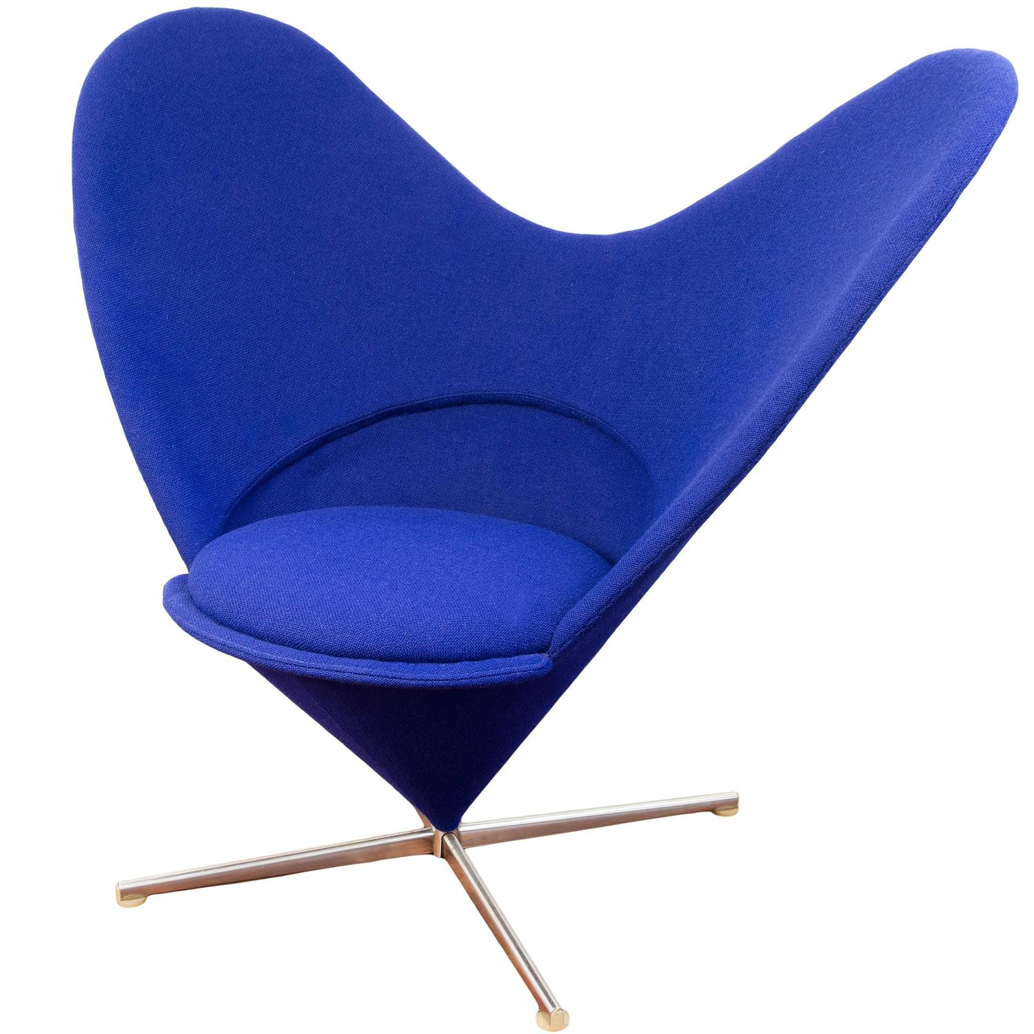 heart chair by verner panton at 1stdibs. Black Bedroom Furniture Sets. Home Design Ideas
