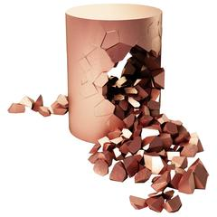 Stool Bullet Pouf, Copper Plated