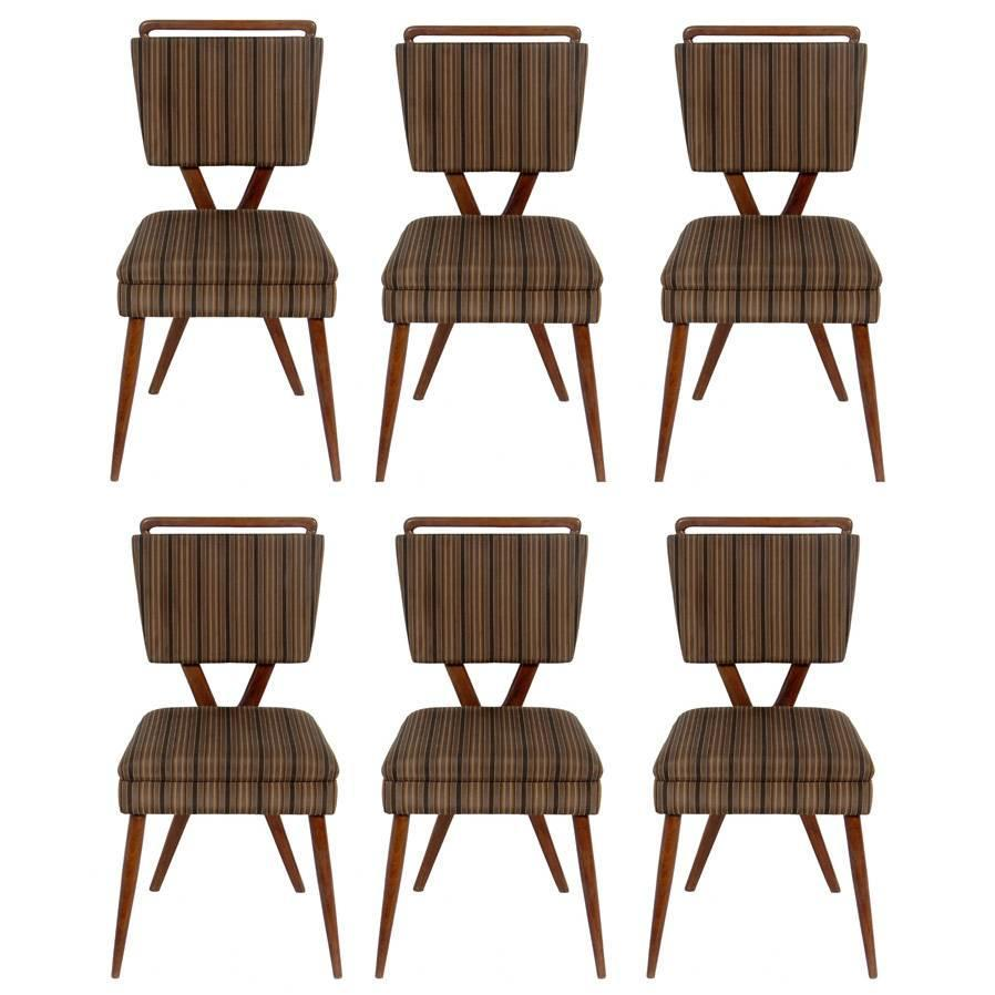 set of six xback italian dining chairs by gianni vigorelli for sale at 1stdibs