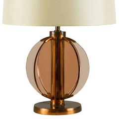 Glass Table Lamp Attributed to Fontana Arte