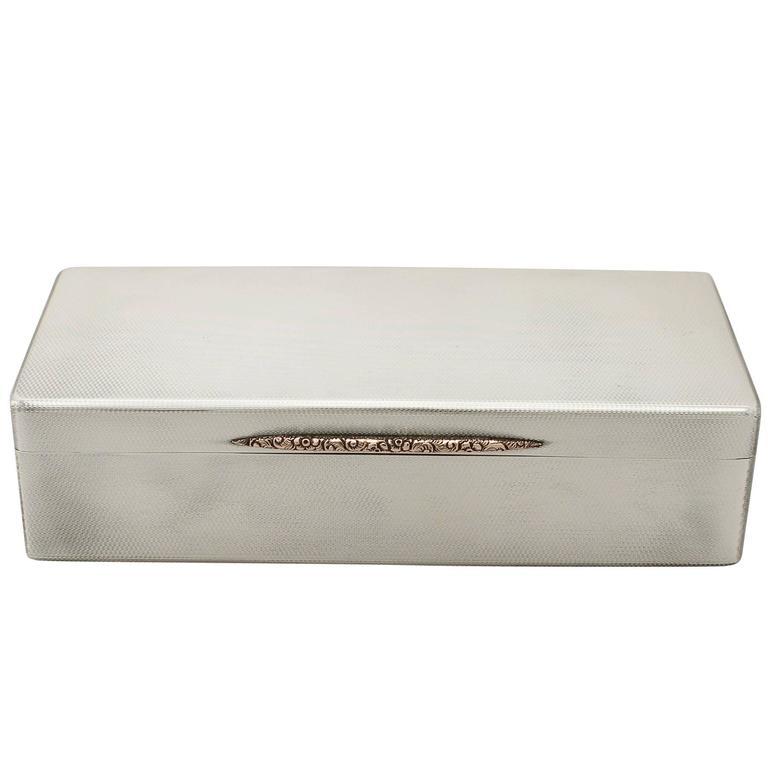 Sterling Silver Box, Vintage George VI