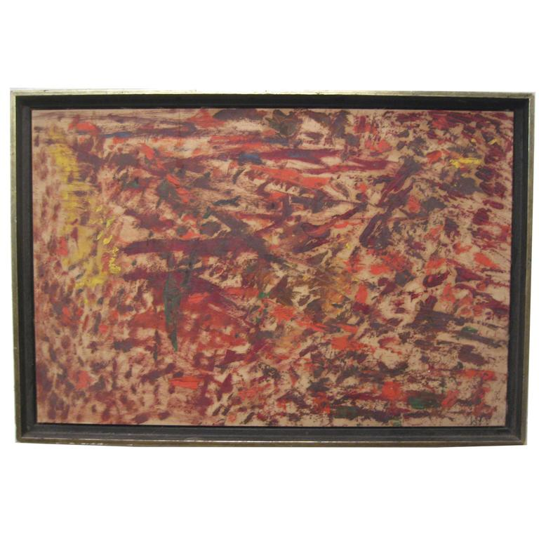 Wigs Frank 1965 Abstract Expressionist Painting