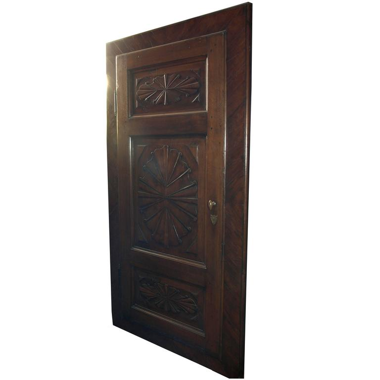 Antique Walnut Wall Cabinet