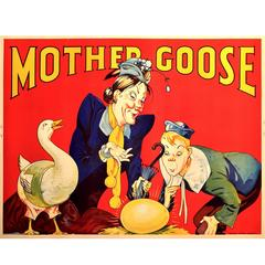 English Art Deco Period Poster for Mother Goose, 1939