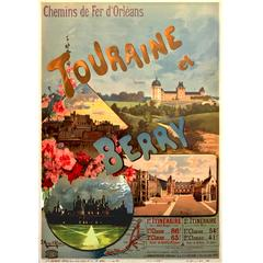 Belle Époque Period French Travel Poster for Touraine et Berry by Hugo D'alesi