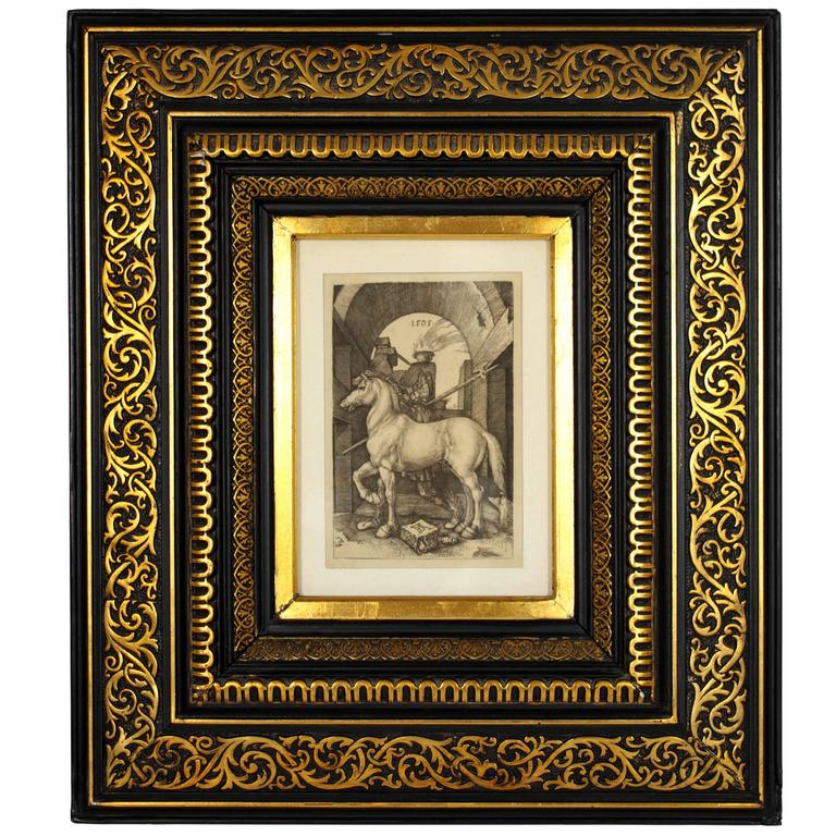 "Albrecht Dürer ""The Small Horse,"" 19th Century Copper Plate Engraving"