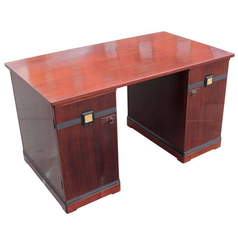 German Jugendstil Period Rosewood Freestanding Writing Desk