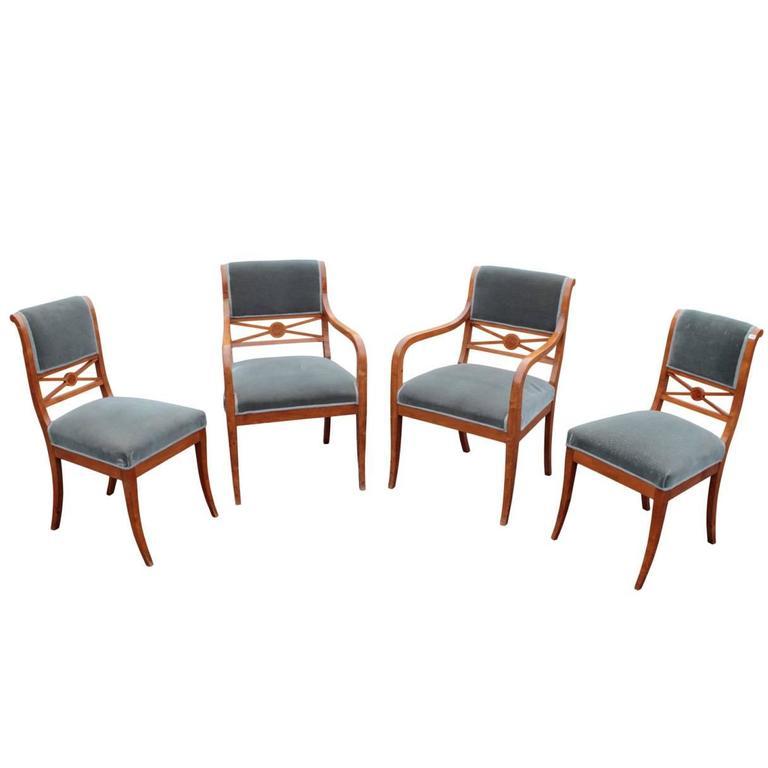 Swedish Karl Johan Salon Seating Suite