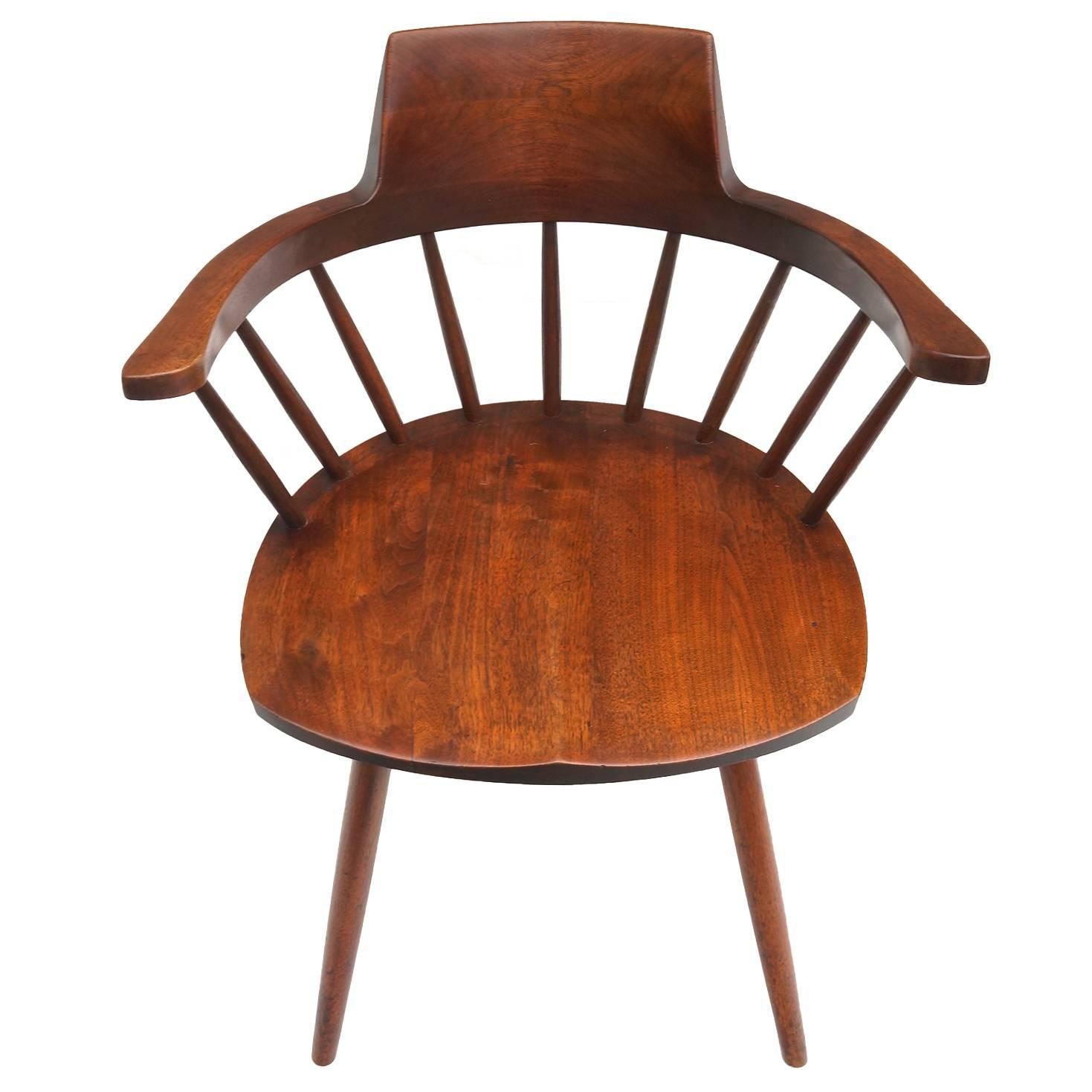 George Nakashima Captain s Chair For Sale at 1stdibs