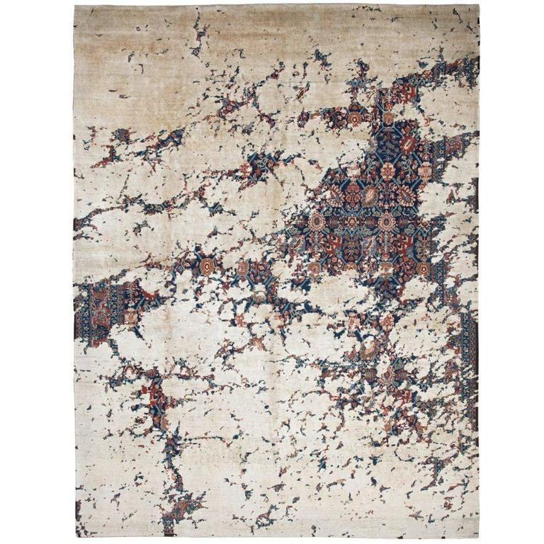 Tabriz Canal Aerial from Erased Heritage Carpet Collection by Jan Kath For Sale