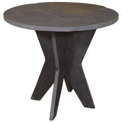 Small Round Slate table d'Ardoise