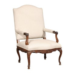 Large French Regence Period Fauteuil with Elaborate Carving, circa 1720