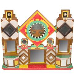 Folk Art Sculptural Mirrored Construction