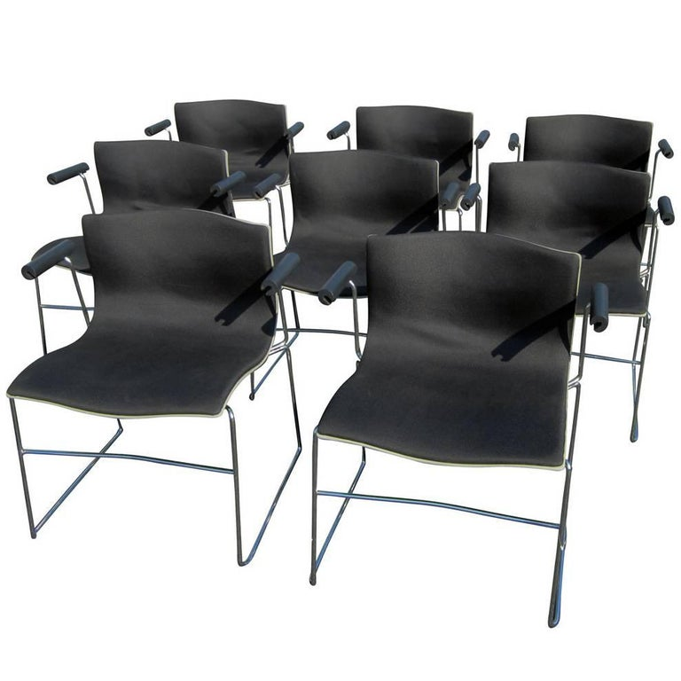 Vintage Set of Eight Handkerchief Armchairs by Vignelli for Knoll For Sale