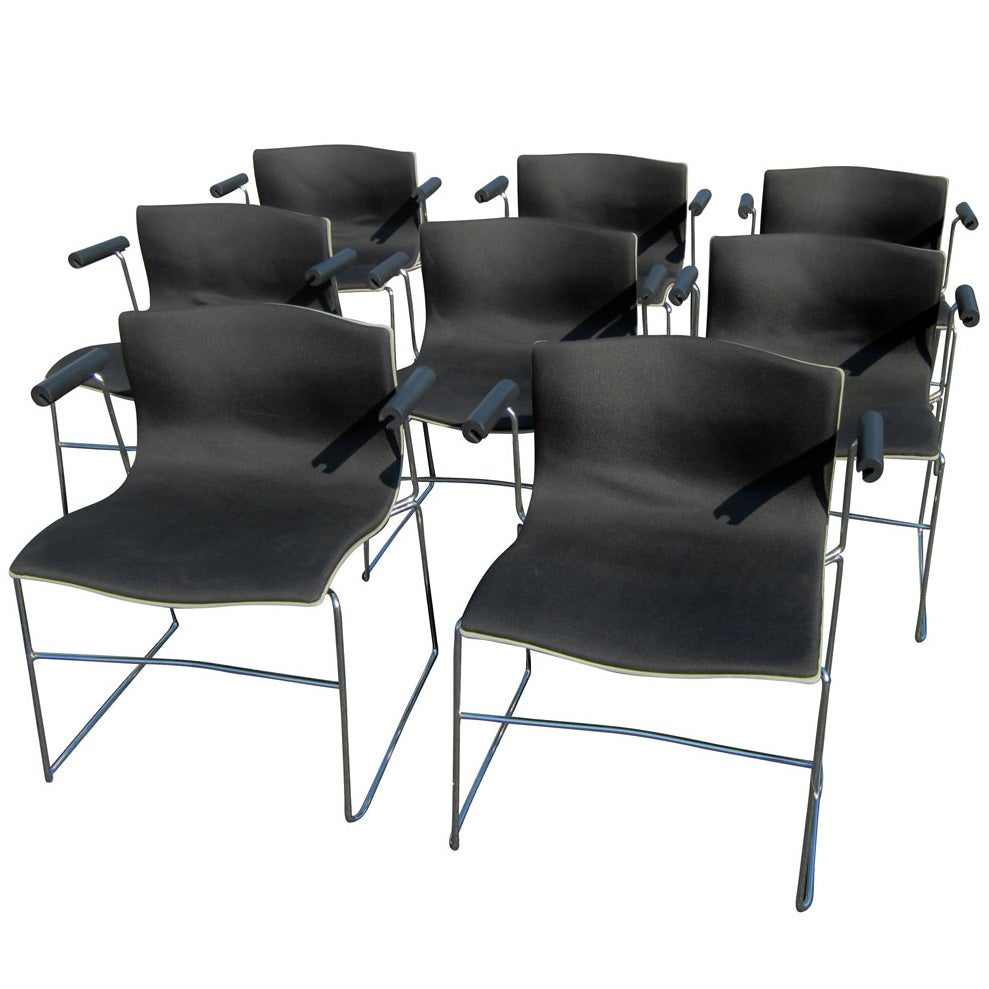 Vintage Set of Eight Handkerchief Armchairs by Vignelli for Knoll