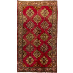 Vintage Oushak Rug woven by Greek Anatolians