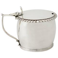 1830s Antique William IV Irish Sterling Silver Mustard Pot