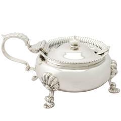 1940s George VI  Sterling Silver Mustard Pot