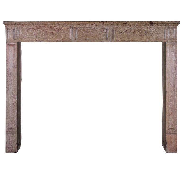 18th century hard stone antique fireplace mantel for sale