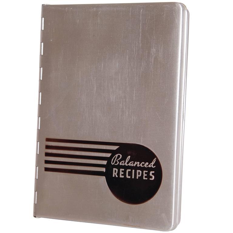 Pillsbury Balanced Recipes Streamline Aluminum Art Deco