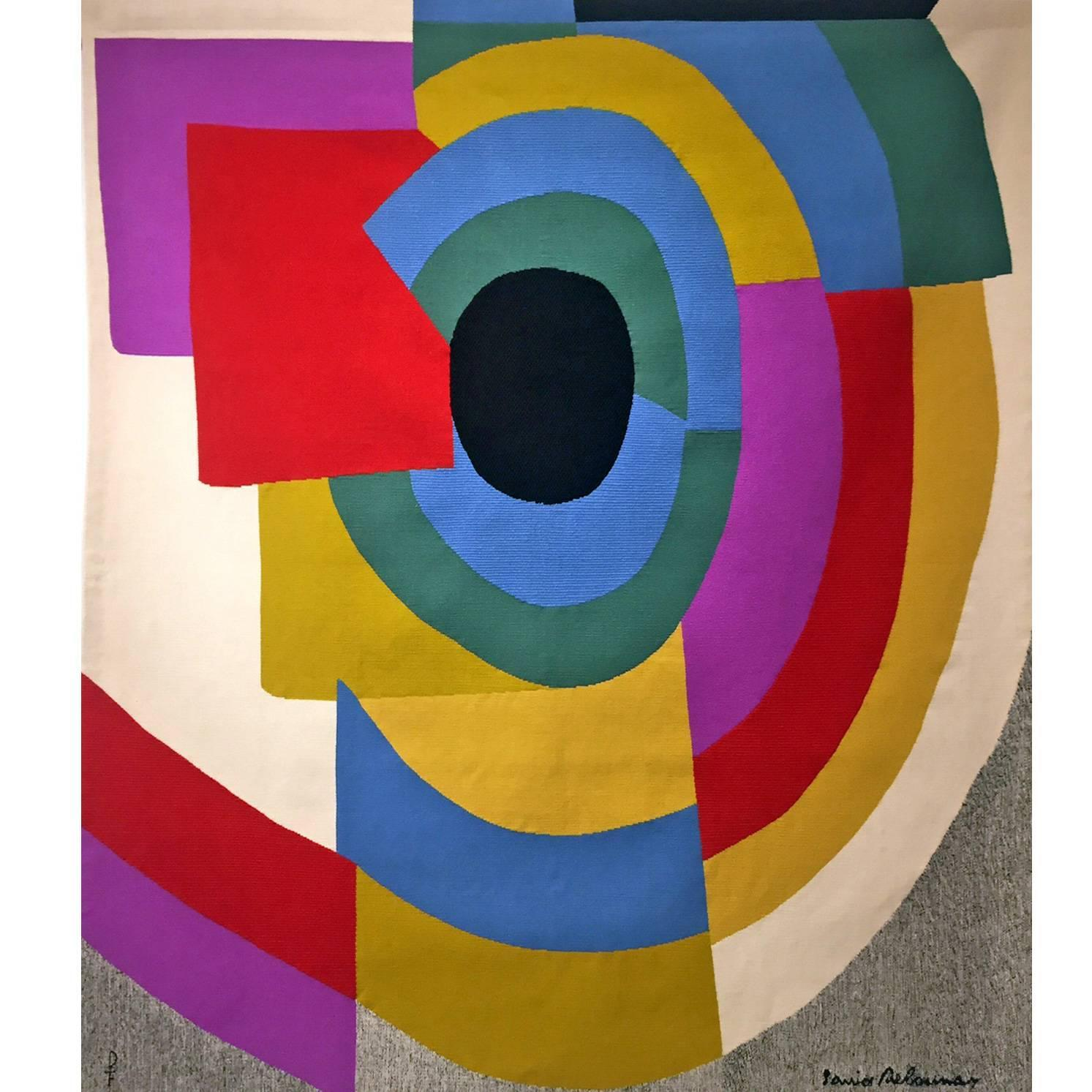 Sonia Delaunay Aubusson Tapestry 1970s At 1stdibs