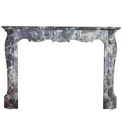 18th Century Grey Marble antique Fireplace Mantel from the Regency Period