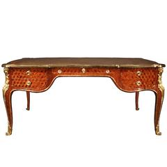19th Century Louis XV Style Tulipwood and Ormolu Presidential Bureau Plat