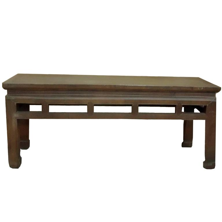 Chinese Antique Double Sided Spring Bench Or Low Table At