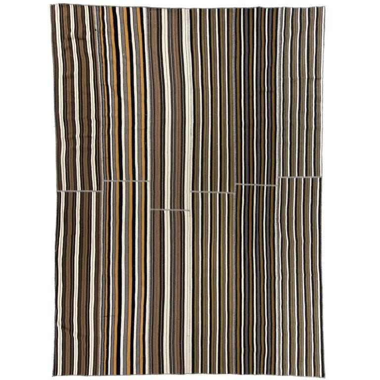 Large Striped Nomadic Kilim