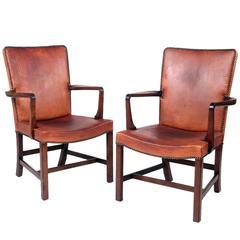 Kaare Klint High Back Armchairs