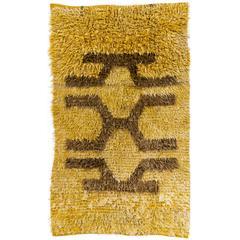 Vintage Angora Mohair Tulu Rug