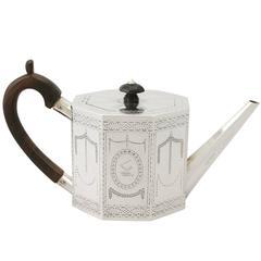 1877 Antique Sterling Silver Teapot