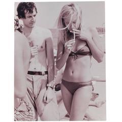 """Smoking in Venice"" 2003 Print by Stephen Elledge"