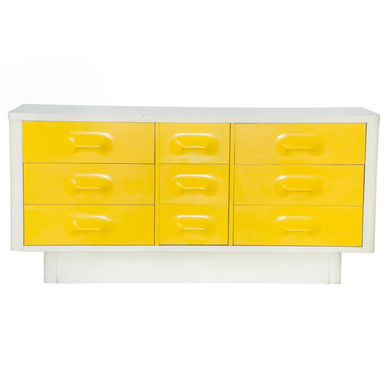 Mod Pop Raymond Loewy Style Nine-Drawer Dresser