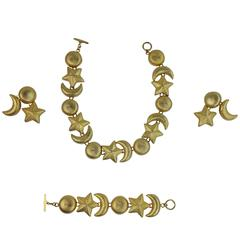Christian Dior Celestial Sun Moon and Stars Parure 1970s with Provenance