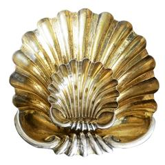 Pair of Italian Silver and Vermeil Shell Dishes