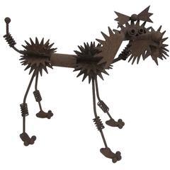 Mid-20th Century Brutalist Poodle Dog Sculpture