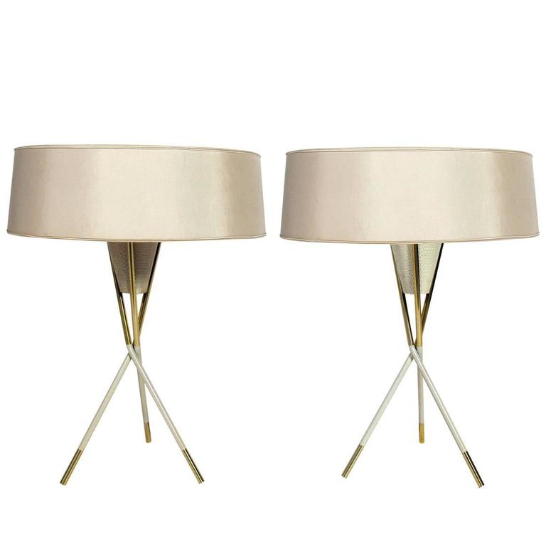 Modernist Tripod Table Lamps by Gerald Thurston